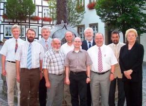 Die SPD-Bürgermeisterkandidaten im HSK zusammen mit dem Landratskandidaten Eckhard Scholz (links)