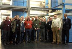 Die SPD zu Besuch im Druckzentrum von WR und WP in Hagen-Bathey.