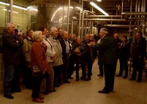 Der SPD-Stadtverband zu Besuch bei der heimischen Brauerei Veltins.