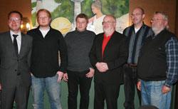 von links: Landtagsabgeordneter Dr. Karsten Rudolph, Daniel Köhne, Reinhard Brüggemann, Siegfried Lumme, Martin Nonnweiler und Wigbert Hermes. Es fehlt krankheitsbedingt Kirsten Malyska.