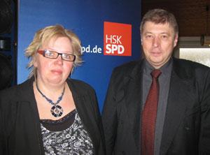 Gehen für die Mescheder Sozialdemokraten ins Rennen um ein Kreistagsmandat: Rosemarie Völlmecke und Reinhard Brüggemann
