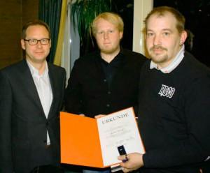 Andreas Bischoff (rechts im Bild) wurde für seine 25-jährige Mitgliedschaft in der SPD geehrt.
