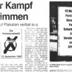 "Bericht in der ""Westfalenpost"" vom 11. August 1999"